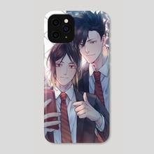 Kuroo and Kenma - Phone Case by Minoru Joeling