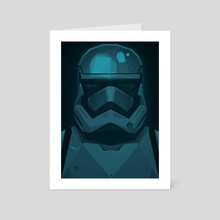 "STARWARS ""The Force Awakens"" Stormtrooper - Art Card by ANDRESZEN"
