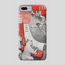 Lamian Meow - Phone Case by EKAH
