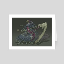 Centipede fleshy creature - Art Card by Guillem Ferrer