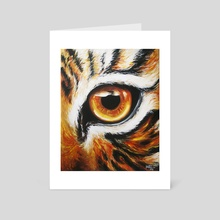 Orange Tiger Eye - Art Card by krissie phee