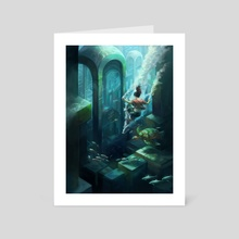Submerged City - Art Card by Julie Dillon