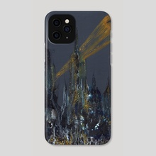 Rainy Gotham - Phone Case by juri hayasaka chinchilla
