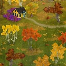 autumn cabin - Acrylic by Lara Paulussen