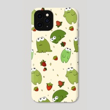 Frogs and strawberries - Phone Case by Julia Kim