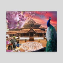 Krishna during Margazhi Month - Canvas by Jamuna Mahalingam