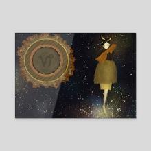 Zodiac girls/ Capricorn  - Acrylic by Ryo Yamazaki