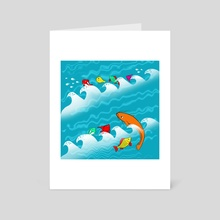 SEA COLOR - Art Card by Elena Zharinova