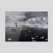 Ice Carving - Acrylic by Alastair Magnaldo