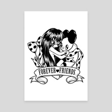 Forever friends - Canvas by Meni Tzima