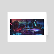 Victory Lap - Super Droplets - Art Card by Aaron Campbell