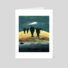 Cubical March - Art Card by Galen Valle