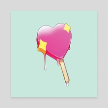 Love is Love Popsicle - Canvas by W. Scott Forbes