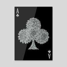 Dark Club Card - Acrylic by Kay Ann