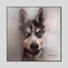 Blue eyed boy - Acrylic by Tobias
