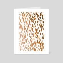 Copper Brushstrokes - Art Card by 83 Oranges