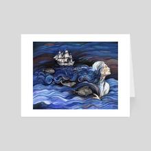Ocean Hair. - Art Card by Fanitsa Art