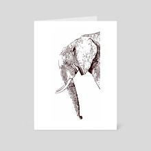 Extinction - Elephant - Art Card by Xtinction