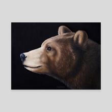 Portrait of a Bear - Canvas by Jennifer DiArenzo