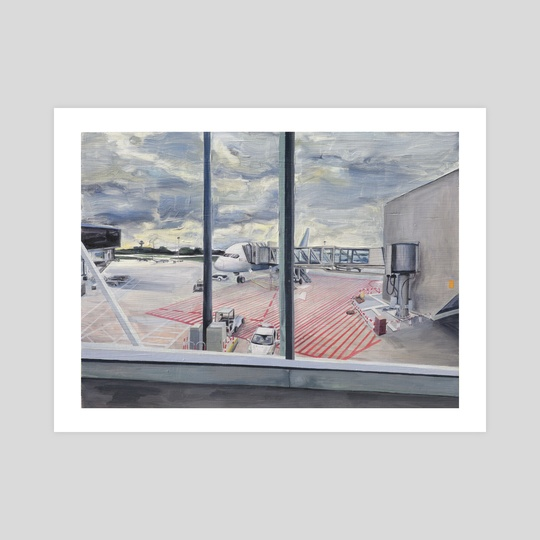 Warsaw Airport by Dominique Hurst