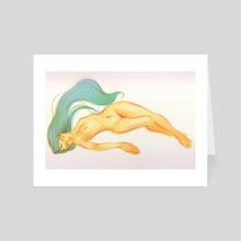 floating - Art Card by Maria Poliakova