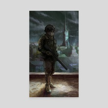 Soldier - Canvas by Eric Paints