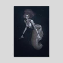 Mermaid - Canvas by Daniel Pink