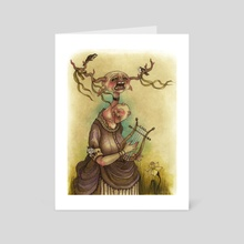 Antlers - Art Card by Courtney Archer