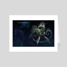 Beneath the Waves: Eqota - Art Card by Taran Fiddler