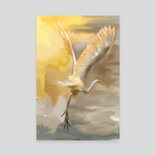 Flight - Canvas by Jovan Maletic