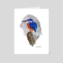 Kingfisher - Art Card by Aude Shattuck