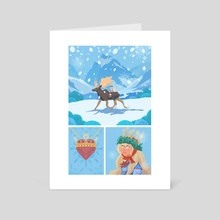 Princess Tuvstarr and Leap the Elk - Art Card by Anthony Wallace
