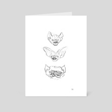 Bats - Art Card by Margarida Ramos Matias