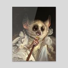 Fancy Mouse Lemur - Acrylic by Jacqui  Davis