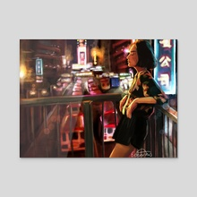 City Nights - Acrylic by Emme Srinivas