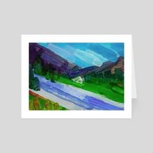 Mountain river - Art Card by Nataliia Belozerova