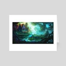 Elven Forest - Art Card by Steven Hake