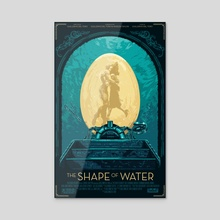 The shape of water - varian poster - Acrylic by Jhony Caballero