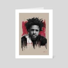 J Cole - Art Card by rory taylor
