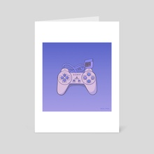 Playstation 1 Pad - Art Card by Fany Misu
