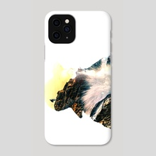 Lady in the mountains - Phone Case by nia carr