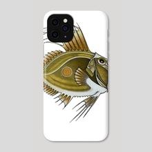 Green Fish - Phone Case by Adam Lindsay Honsinger