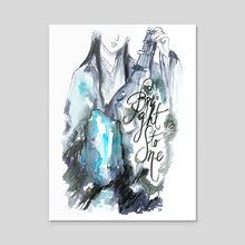 Bright Stone (Genjimonogatari) - Acrylic by Maiji/Mary Huang