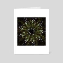 STP Screen Transfer Process - 243 - Winter Star Turns Spring - Art Card by Wetdryvac WDV