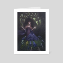 Fairy Frogmother - Art Card by Jesse Hitchens