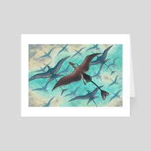 Warm Currents - Art Card by Emma Lazauski