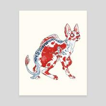 Koi Sphynx Shusui - Canvas by Kristina Wiltse