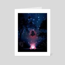 Seek the light - Art Card by armend  rexhepi