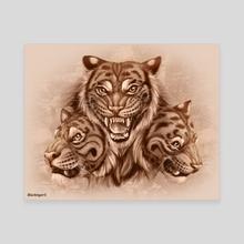Rustic Tiger - Canvas by Blacktiger5