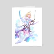 Saber Bride (Nero+Aturia) by CGlas - Art Card by CGlas